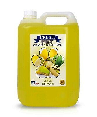 Fresh Pet Disinfectant Cleaner Deodoriser - Animal Safe 5L - Lemon Pistachio