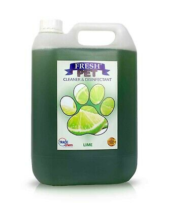 Fresh Pet Disinfectant Cleaner Deodoriser - Animal Safe 5L - Lime