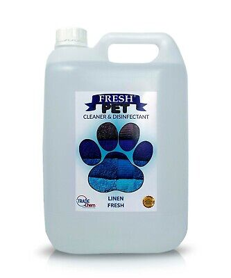 Fresh Pet Disinfectant Cleaner Deodoriser - Animal Safe 5L - Linen Fresh