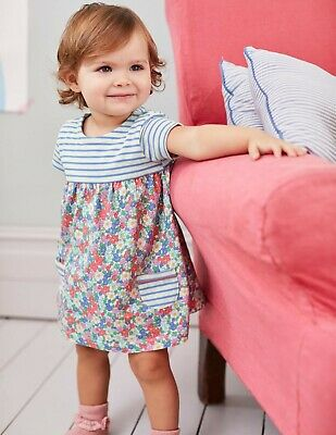MINI Boden BABY GIRLS Hotchpotch JERSEY FLORAL Dress&Pants SET BRAND NEW Y0143
