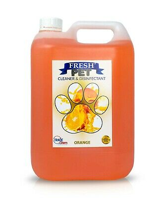 Fresh Pet Disinfectant Cleaner Deodoriser - Animal Safe 5L - Orange