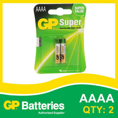 GP Super Alkaline AAAA Battery (25A) card of 2 [AUDIO DEVICES, SMOKE ALARM]