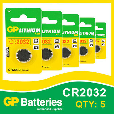 GP Lithium Button Battery CR2032 (DL2032) card of 5 [WATCH & CALCULATOR + OTHER]