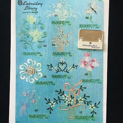 Floral Embroidery Designs Card for Husqvarna Viking Embroidery Machines