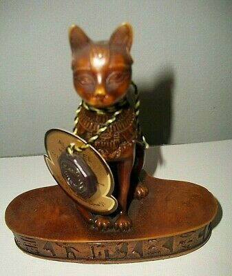 AL ASEEL Egyptian Cat Statue on Platform Resin Compound - Very Unique!!!