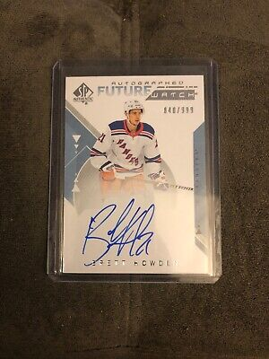 Brett Howden 2018-19 SP Authentic Future Watch Autographed Rookie 840/999