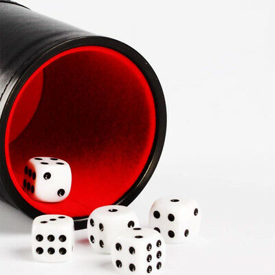 PU Leather Dice Cup with 6 Dot Dices Set For Pack Bar Casino Supplies WO