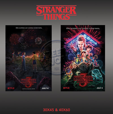 2019 STRANGER THINGS SEASON 3 TV Series Art Silk Poster Summer