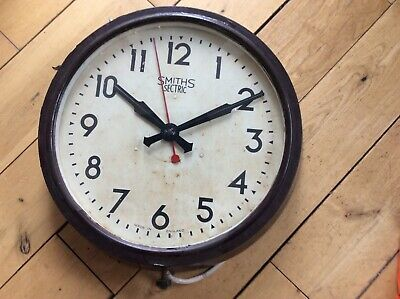 "Smiths factory clock Bakelite 18""in unrestored the real deal"