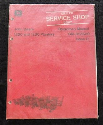 Genuine John Deere 1971 1260 1280 Planter Operators Manual Manual Mint Sealed