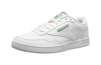 REEBOK Men Shoes Club Memt Wide 4E White Green Synthetic Leather Memory Tech