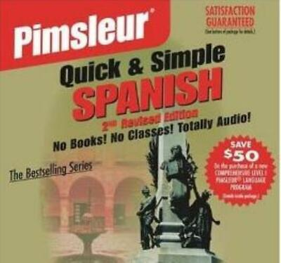 Pimsleur Quick & Simple Spanish 2nd Edition AUDIO CD learn language learning!