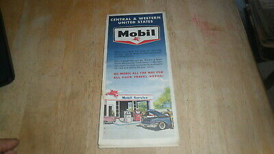 Mobil 1963 Map Of Central & Western United States