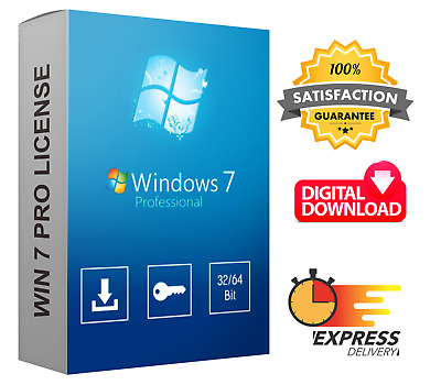 Windows 7 Professional Product Key - Instant Delivery - Full Version - 32/64 Bit