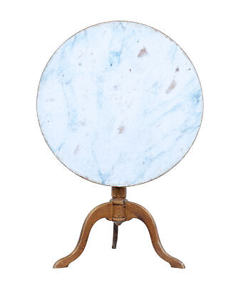 19Th Century Painted Swedish Tilt Top Table