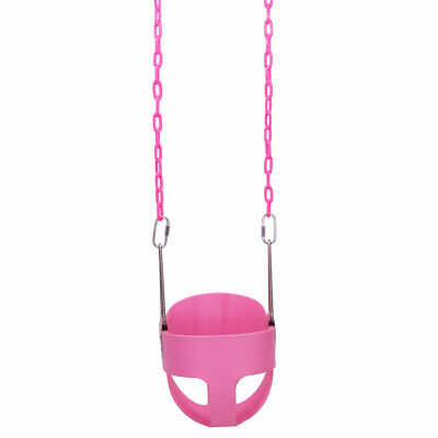 Heavy-Duty High Back Full Bucket Toddler Swing Seat Extra Safe and Durable Pink