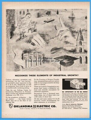 1962 Oklahoma Gas & Electric Oklahoma City OG&E Elements of Industrial Growth Ad