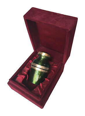 Keepsake for ashes Brass Cremation Urn Keepsake for Human Ashes