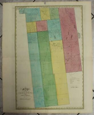 Franklin County New York United States 1829 Burr Unusual Antique Map 1St Edition