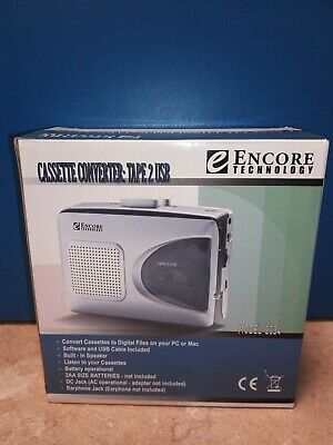 Encore Technology Cassette Converter To Pc Cassette Player Model 2034, Tested.
