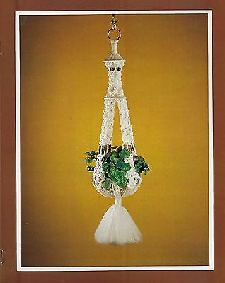 Beginner Plant Hanger Pattern Tie the Knot with Classic IV Macrame Book Leaflet