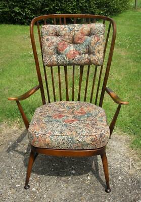 A Vintage Mid Century 1960'S Ercol Windsor Tall Back High Back Easy Chair 478