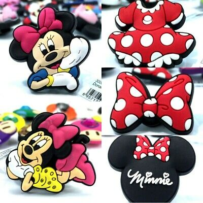 10pcs Mixed High Immitation Shoe Charms Minnie Buckles for Shoes Bands Kids Gift