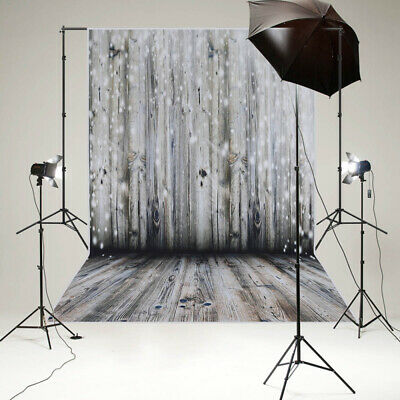 Retro Wood Plank Wall Floor Photography Backdrop Studio Photo Background 5x7FT