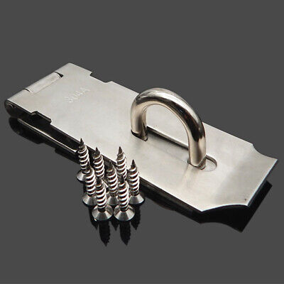 3/4/5 Inch Heavy Duty Hasp And Staple For Door Cabinets Security Locks New Au