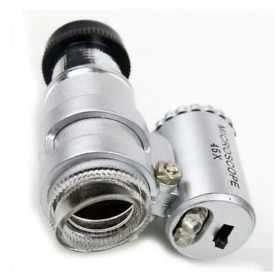 45X Magnifier Mini Pocket Microscope Jeweler Loupe Reading Magnifying Glasses SP