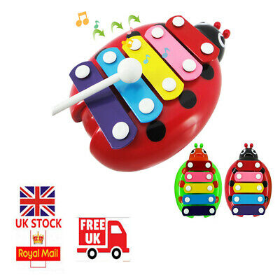 Baby Kid 5-Note Xylophone Musical Toys Wisdom Development Toys Beetle Piano Gift