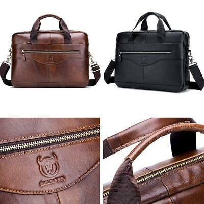 Men's Retro Messenger Shoulder Bag Satchel Laptop Briefcase Attache Leather