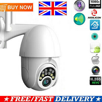 1080P WIFI IP Camera WHITE Wireless Outdoor CCTV HD Home Security IR Cam Hot UK