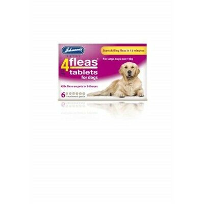 Johnsons Veterinary Products 4fleas Dog Tablets, Large, 57 Mg, 6 Tablets -