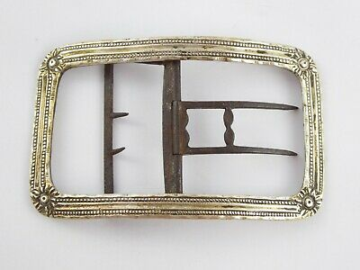 Rare Large Antique Georgian 18Th Century Solid Sterling Silver Shoe Buckle