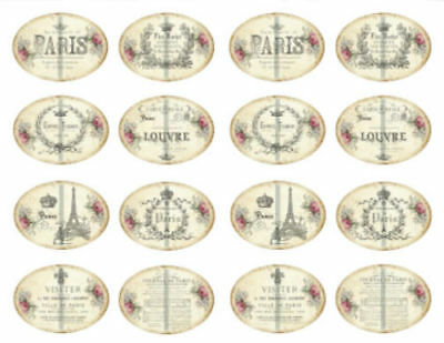 Vintage Image Victorian Grunge French Paris Perfume Labels Decals LAB431