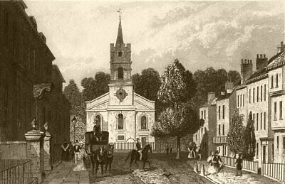 LONDON. Church street, Hampstead, Middlesex. DUGDALE 1845 old antique print