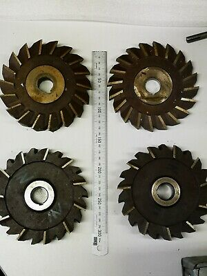 4 x Side and Face Cutters HSS job lot no. 1