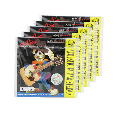 Alice 5PCS Acoustic Guitar E-6th Strings Steel Core & Coated Copper Alloy Wound