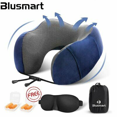 Memory Foam U-shaped Travel Pillow Neck Support Head Rest Airplane Soft Cushion