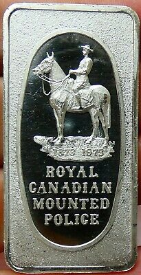 Great Lakes Mint - Royal Canadian Mounted Police 1 oz .999 Fine Silver Art Bar