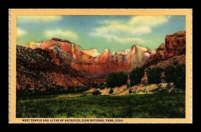 Dr Jim Stamps Us West Temple Altar Of Sacrifice Zion National Park Utah Postcard