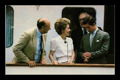 Dr Jim Stamps Us Nancy Reagan Prince Charles New York Visit Postcard