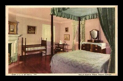 Dr Jim Stamps Us Nellie Custis Room Mount Vernon Virginia Postcard