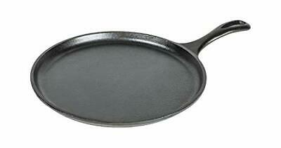 Lodge 10.5 Inch Cast Iron Griddle. Pre-seasoned Round Cast Iron Pan