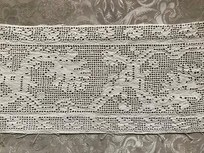 RARE 16th/17th CENTURY ITALIAN LINEN CUTWORK DRAWN THREAD EMBROIDERY GRAPES 281
