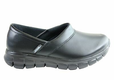 New Skechers Womens Sure Track Bernal Slip Resistant Leather Work Shoes