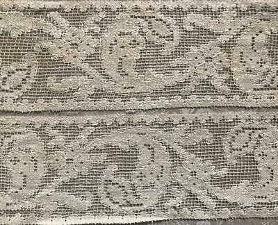 2 PIECES BEAUTIFUL RARE 17th/18th CENTURY LINEN FILET LACE 282.