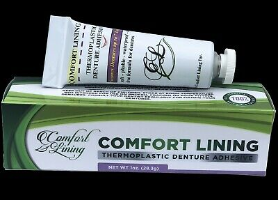 BEST Secure Snug Long Lasting Thermoplastic Denture Adhesive Comfort Lining 1oz