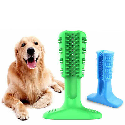 Pet Dog Toothbrush Chew Toy Rubber Dog Toothbrush Stick for Dog Tooth Cleaning